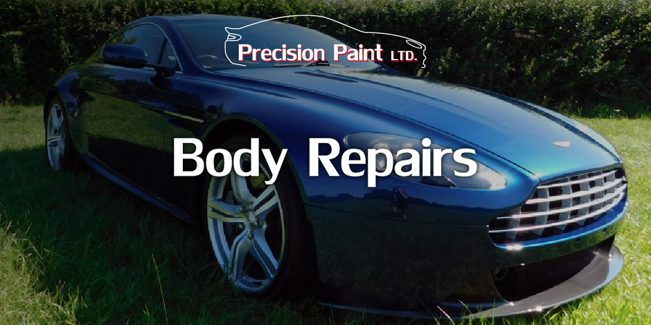 Branded Car Body Repairs Intro Graphic for Precision Paint, Wellington, Somerset