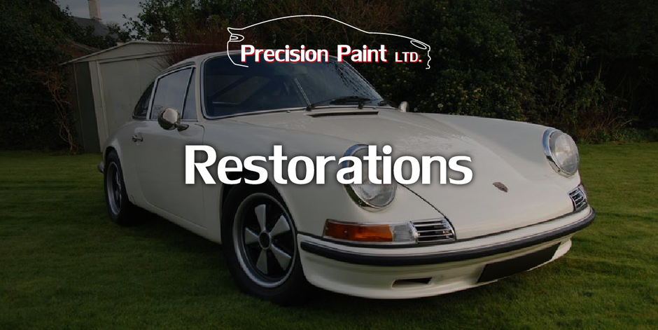 Finished Restoration project - Vintage Porsche 911 Race Car, Precision Paint Wellington, Somerset