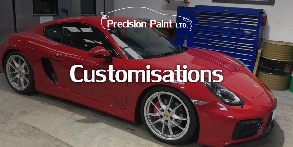 Car Carbon Fibre Customisations Intro Graphic, Precision Paint, Wellington, Somerset