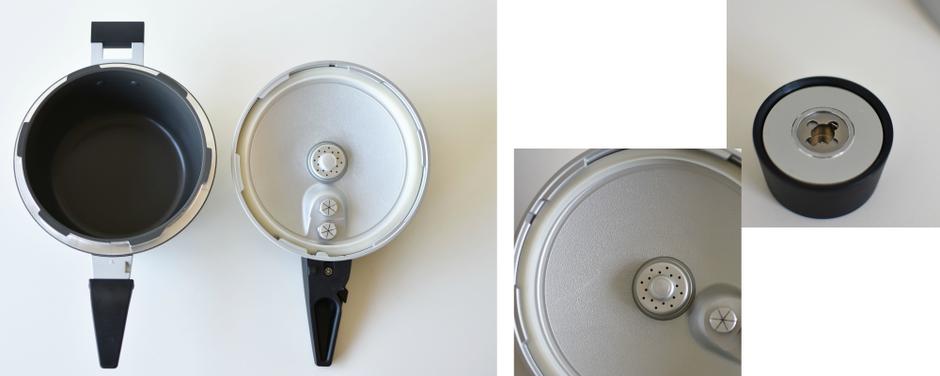 圧力鍋の内側 蓋の裏側
