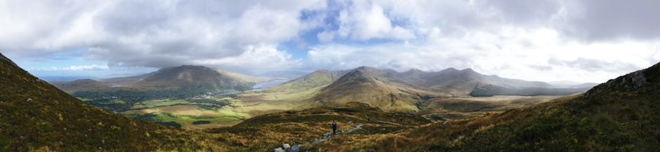 Aussicht vom Diamond Hill im Connemara National Park