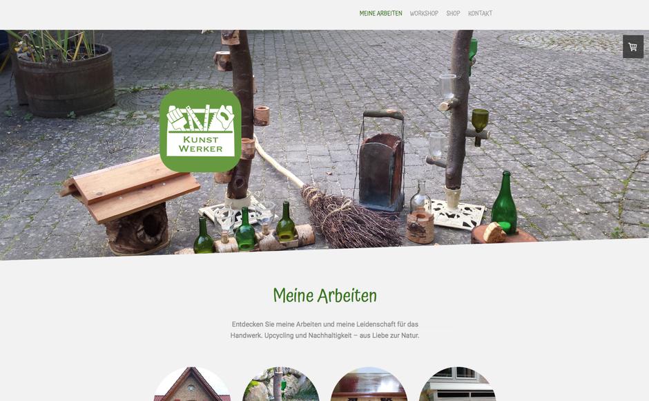Webseite für Kunsthandwerker mit Jimdo Creator