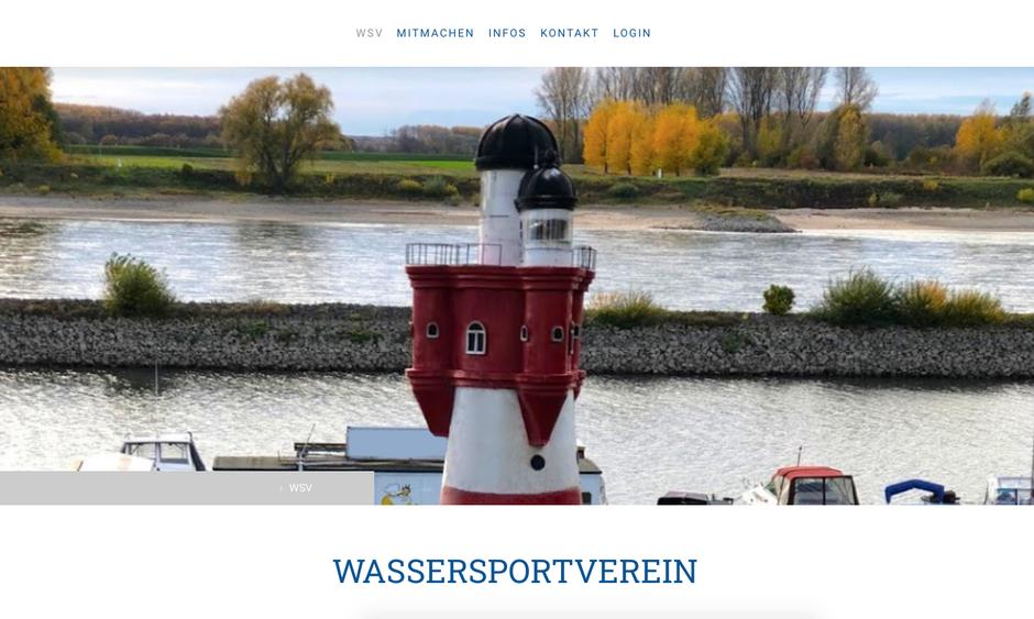 Website für Wassersportverein