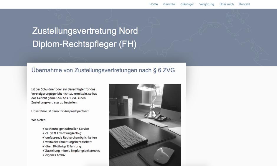 Gestaltungsbeispiel: www.zustellungsvertretung-nord.de