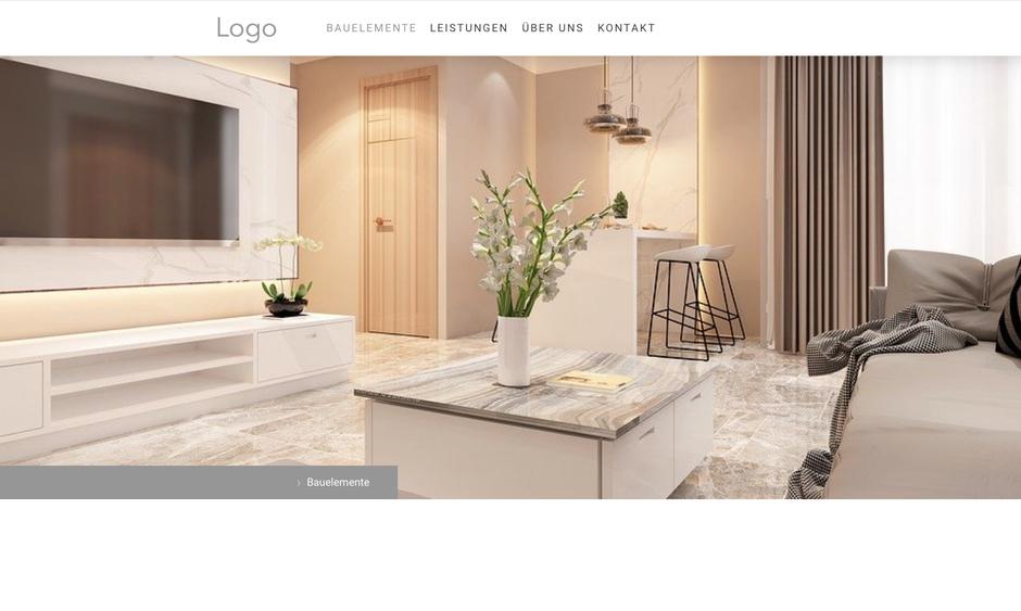 Webseite für Bauelemente-Firma