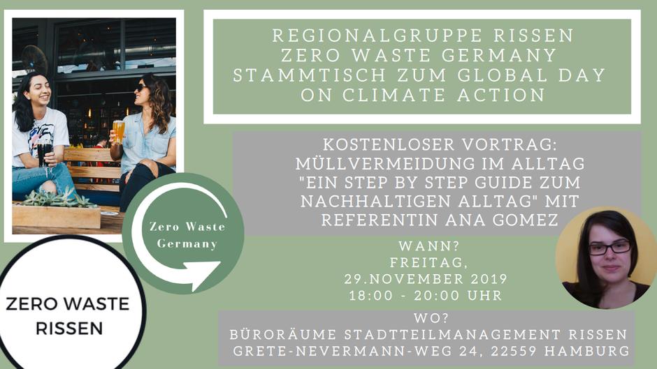 Zero Waste Germany Regionalgruppe Vortrag Referentin Ana Gomez Nachhaltigkeit im Alltag