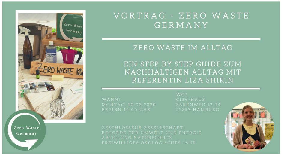 Liza Shirin - Junior Social Media Account Coordinator / Referentin -  Zero Waste Germany Vortrag Hamburg Umweltbehörde