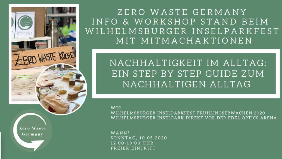 Zero Waste Germany Info & Workshop Stand beim  Wilhelmsburger Inselparkfest mit Mitmachaktionen - Nachhaltigkeit erlebbar machen - Nachhaltigkeitslösungen - Bildungsprogramm