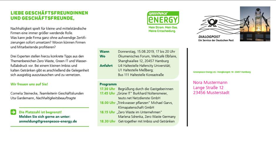 Zero Waste Germany Vortrag Greenpeace Energy Deutschland Unternehmensberatung