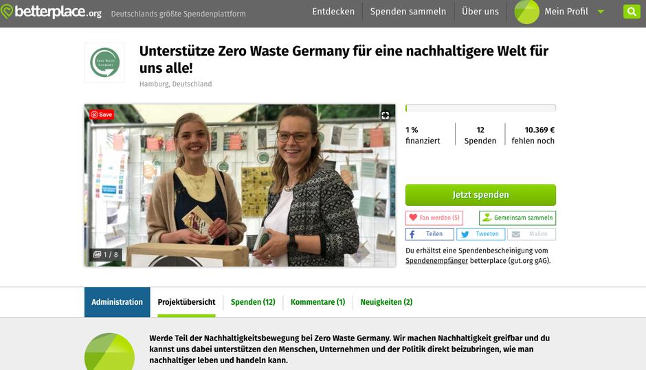 Spenden für mehr Nachhaltigkeit - Klimaschutz beginnt zuhause - Zero Waste Germany zeigt wie - Nachhaltigkeitslösungen für den Alltag