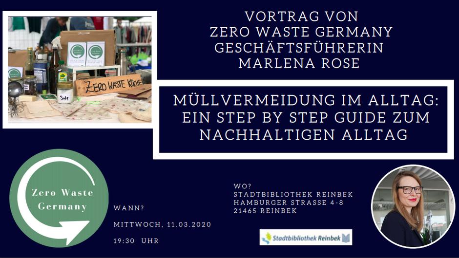 Marlena Rose Geschäftsführerin Zero Waste Vortrag Stadtbibliothek Reinbek - Müllvermeidung - Nachhaltigkeitslösungen -  Zero Waste Hamburg