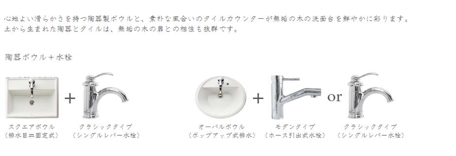 陶器ボウル+水洗