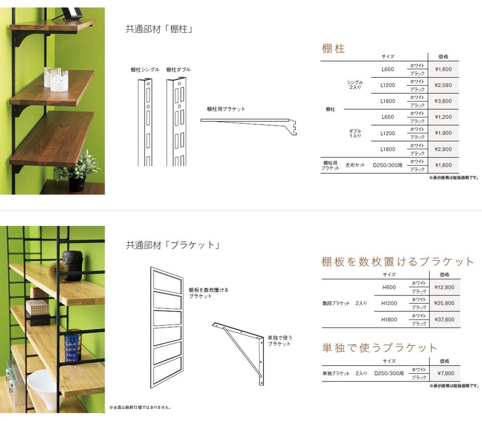 木の棚板ブラケット