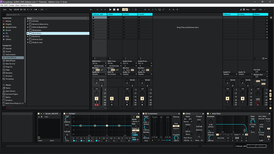 Ableton Live 11 theme KingsBeige Session View