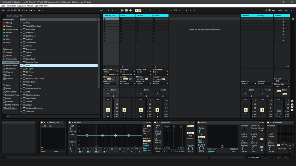 Ableton Live 10 theme KingsBeige Session View