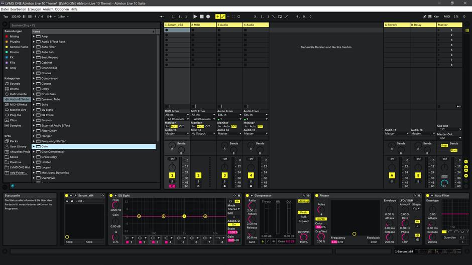 Ableton Live 10 theme YellowMellow Session View