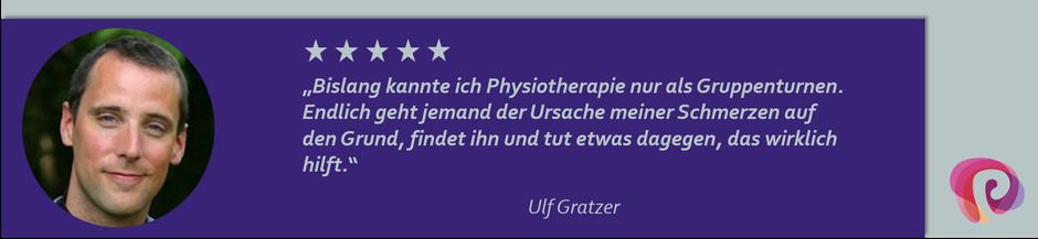 Die Kopfschmerzen von Ulf Gratzer wurden von Petra Punz in ihrer Praxis in Weiz durch Physiotherapie effektiv behandelt.