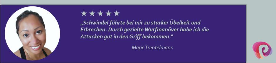 Der Schwindel von Marie Trentelmann wurden von Petra Punz in ihrer Praxis in Weiz durch Physiotherapie effektiv behandelt.