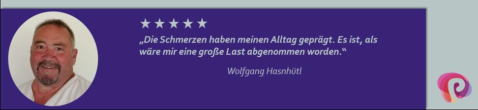 Die Nackenschmerzen von Wolfgang Hasnhütl wurden von Petra Punz in ihrer Praxis in Weiz durch Physiotherapie effektiv behandelt.