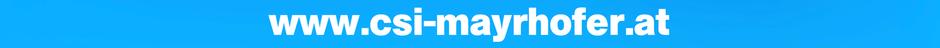 www.csi-mayrhofer.at www csi mayrhofer at dot banner blau homepage webseite website blue white weiß