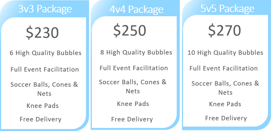 Bubble Soccer Pricing