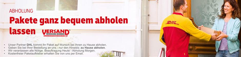 Versandreinigung-mueden.de, Startseite, Bild DHL Paket zu Hause abholen
