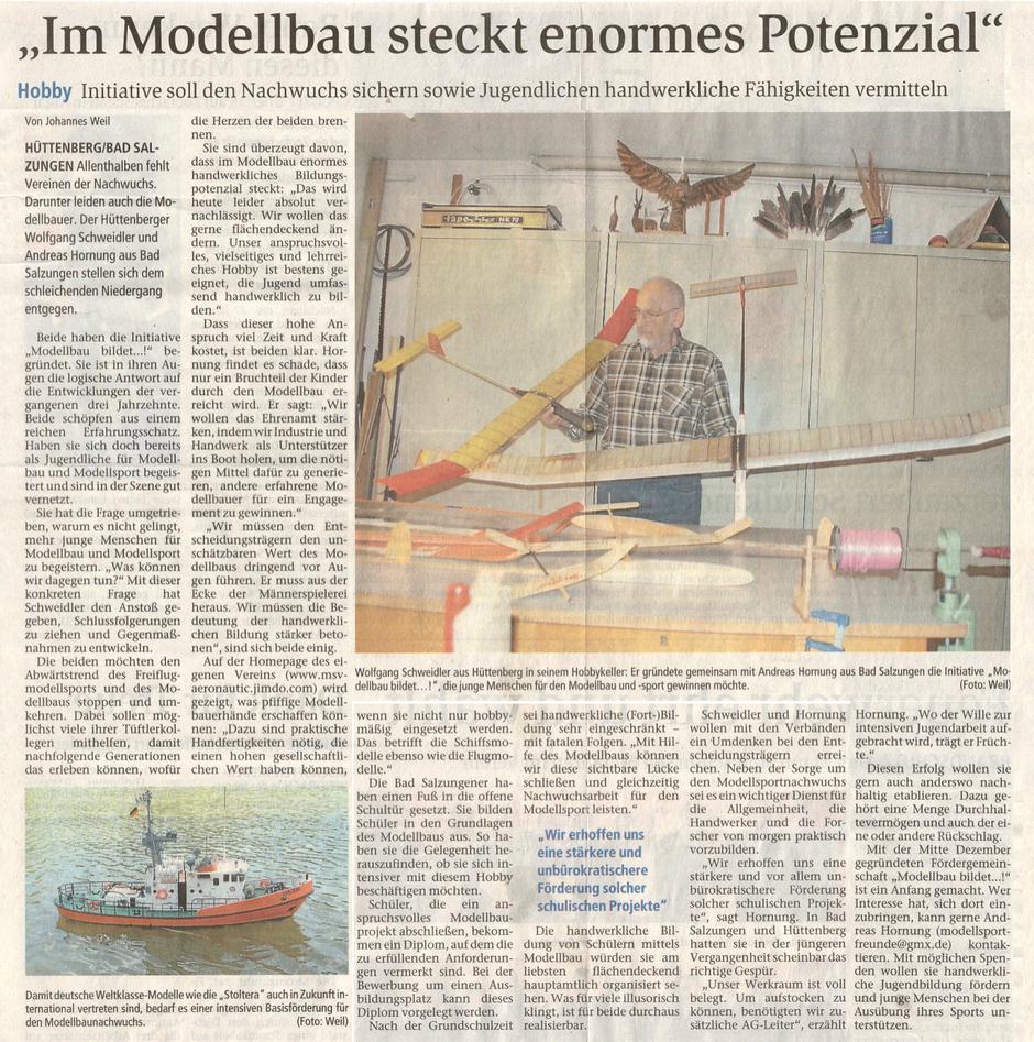 Im Modellbau Steckt enormes Potential - Artikel von Johannes Weil