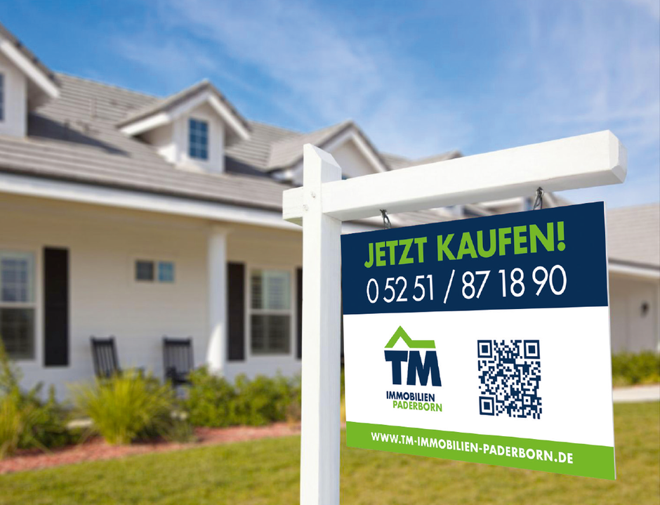 Verkaufsschild Immobilienmakler Paderborn