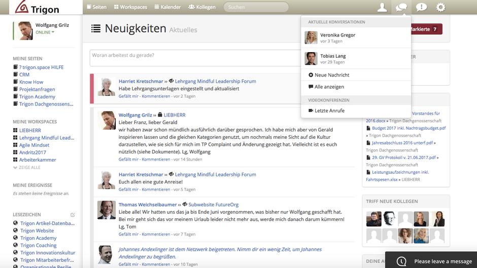 Wolfgang Grilz initiierte bei Trigon das Thema Wissensmanagement auf Social Collaboration Basis.