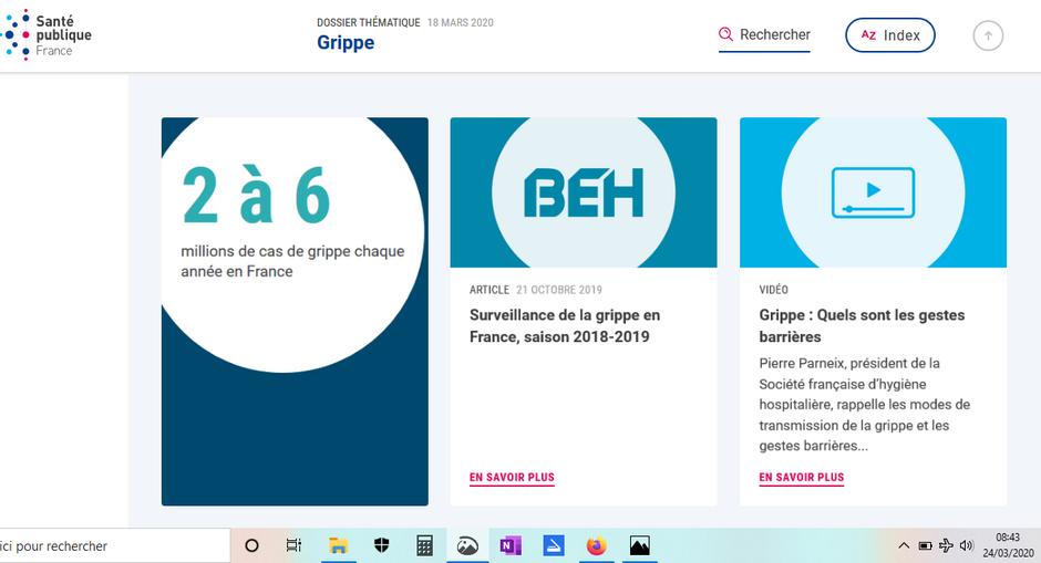 2 à 6 millions de cas de grippe saisonnière en France ministère de la santé