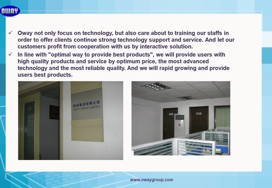 About Oway, china manufacture Oway Group Ltd portable