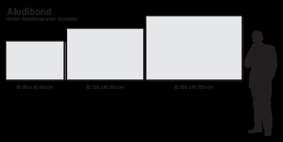 Echt Foto-Abzug auf Alu Dibond kaschiert unter 2 mm Acrylglas • glänzend | max. Größe 270x180cm