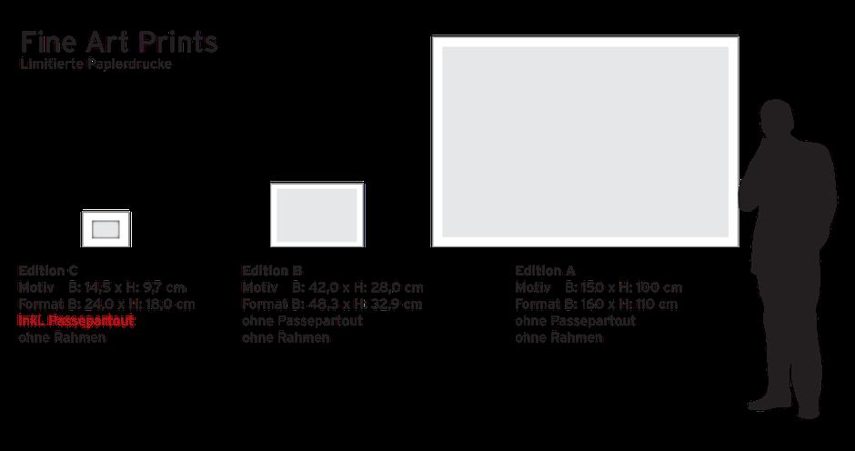 Originaldrucke auf Hahnemühle • Fine Art Photo Rag • 188 / 308gsm • matt | Fine Art Print: max. Größe 270x180cm