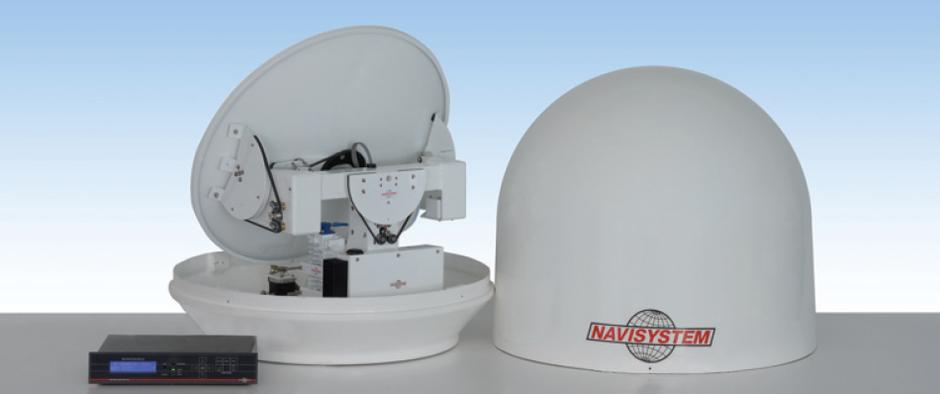 navisystem antenna satellitare VSAT marine satellite nautica yacht imbarcazione ship boat vessel tre assi three axis BUC banda ka ku band