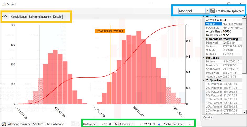 MC FLO Excel Monte Carlo Simulation
