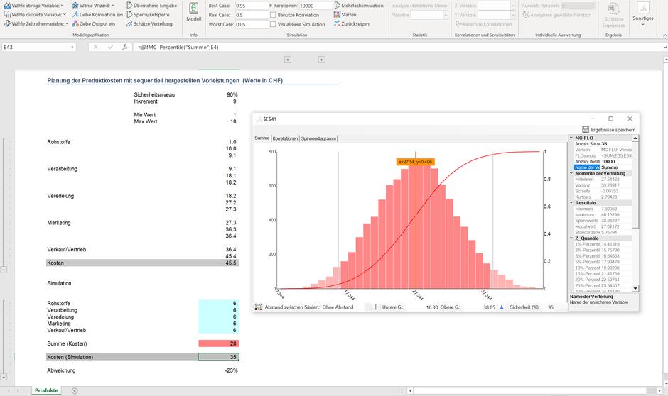 Sandbagging Monte Carlo Simulation Excel MC FLO