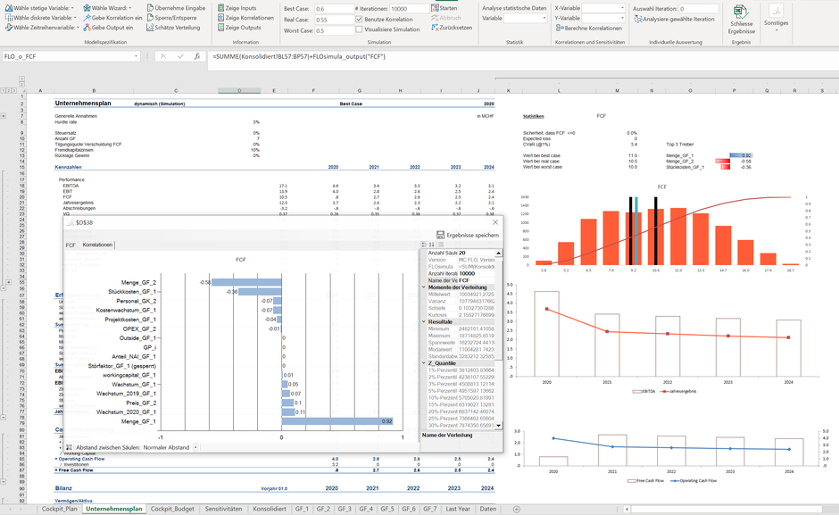 MC FLO Excel Monte Carlo Simulation Forecast Prognose Predictive Analytics