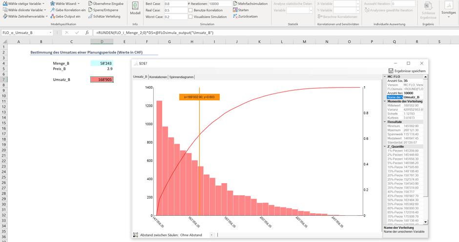Monte Carlo Simulation Excel Multiplikation Optimierung Stochastik Preisbestimmung