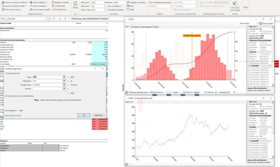 Monte Carlo Simulation MC FLO Excel