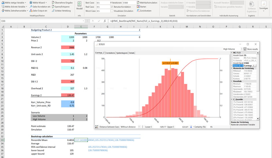 Bootstrap Excel Monte Carlo Simulation