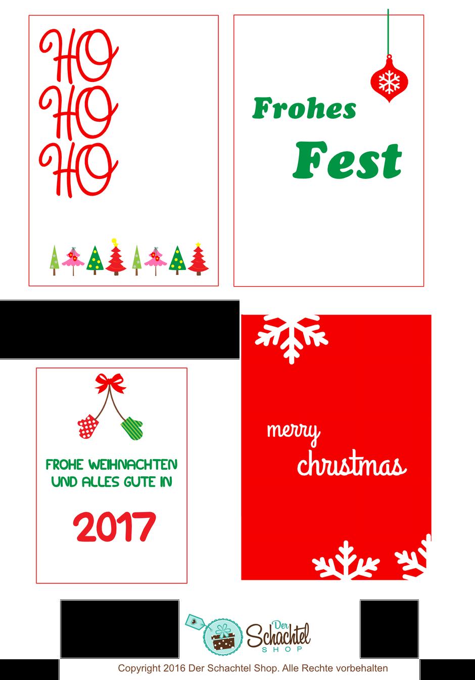 Persönliche Weihnachtsetiketten
