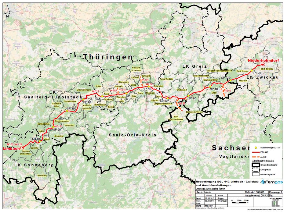Der gut 125 km lange Netzabschnitt wurde in den 1950er und 1960er Jahren gebaut. Die schrittweise Erneuerung erfolgt weitestgehend im bestehenden Trassenverlauf und umfasst auch Anschlussleitungen.