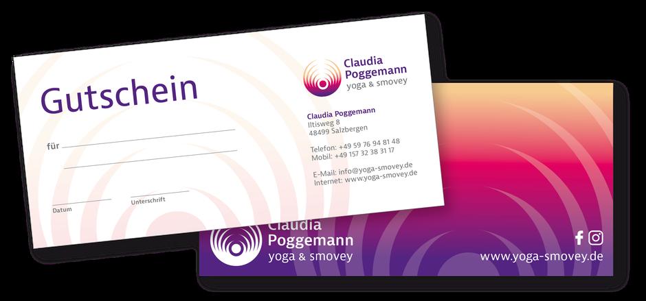 Gutscheine kaufen Yoga smovey® Claudia Poggemann Aktionen