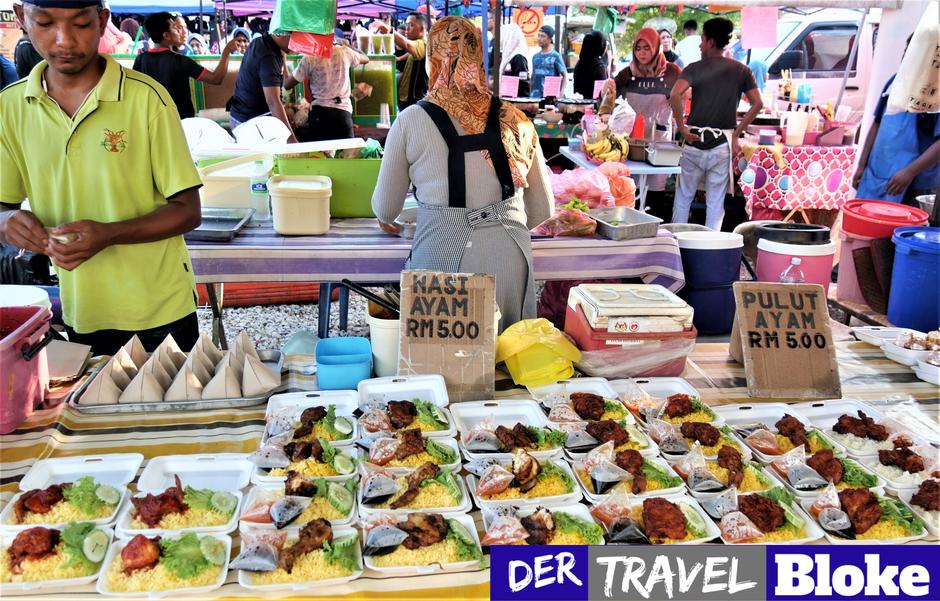 Langkawi Nachtmarkt Fotos: Pasar Malam am Straßenrand