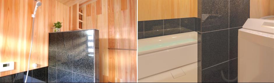 大阪府吹田市のWASH建築設計室はヒノキの香るお風呂を積極的に提案しています。脱衣室と一体の浴室がおすすめです。