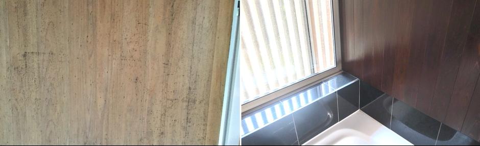 大阪府吹田市のWASH建築設計室はヒノキの香るお風呂を積極的に提案しています。ヒノキがカビでも大丈夫。漆を塗ったりもできます。