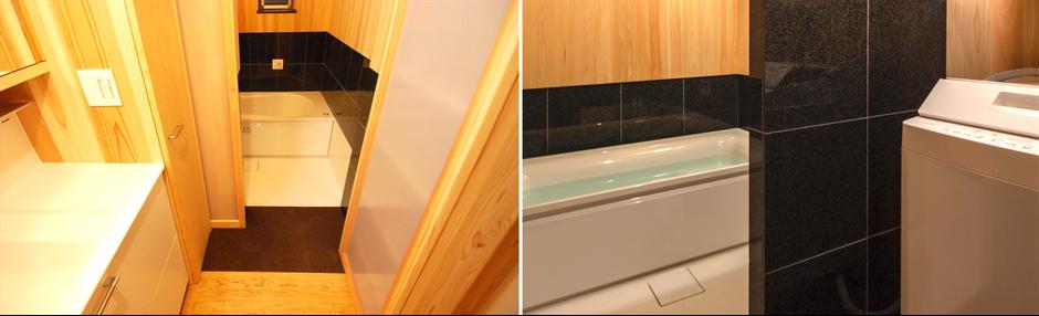 大阪府吹田市のWASH建築設計室はヒノキの香るお風呂を積極的に提案しています。 ハーフユニットバスはTOTO、LIXIL、日比野化学工業が使えます。