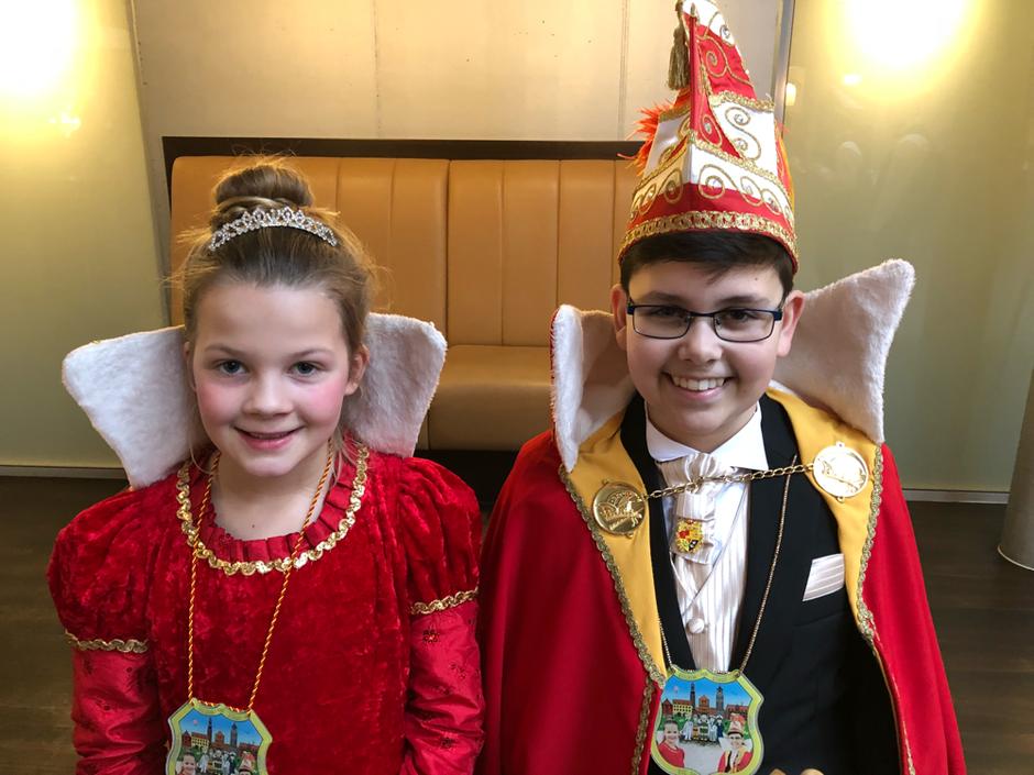 Das Kinderprinzenpaar der KG Die-La-Hei 2019 : Prinzessin Annalisa I. (Autermann) und Prinz Mika I. (Fabry)