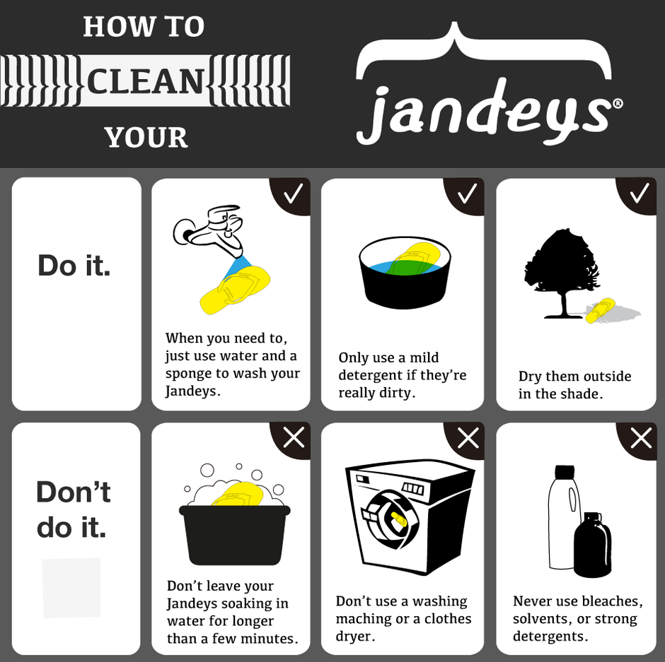 ab7b2479e58f ... guide so you know the best way to clean your natural rubber flip flops  and jandals. When they get dirty