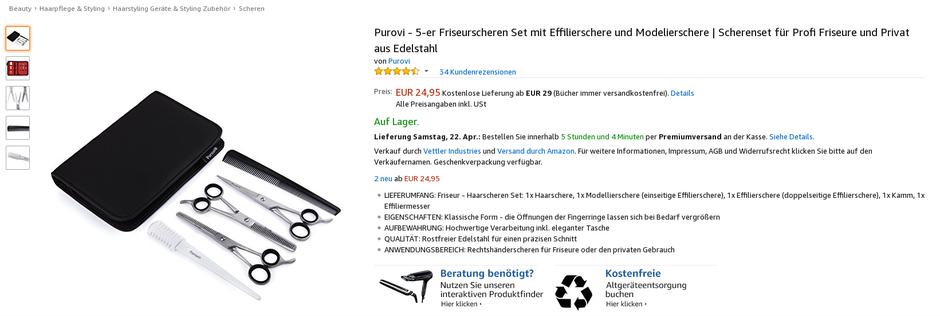 Amazon-FBA Produktsuche Produkt finden